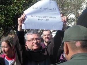 Santiago Agrelo en una manifestación el 24 de febrero de 2016