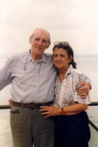 Clelia y Jerónimo en la Albufera de Valencia. Primavera de 1992.