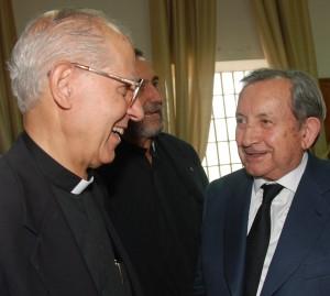 José María Patino con el general de los jesuitas, P. Nicolás