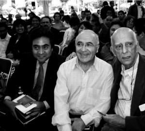 Foto: Tamayo (centro) junto a los teólogos Rubem Alves (derecha) y Leopoldo Cervantes (izquierda).